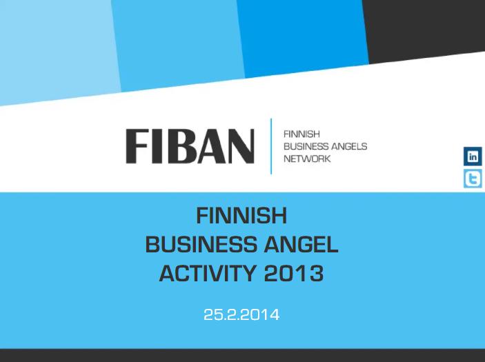 Finnish Business Angel Activity 2013